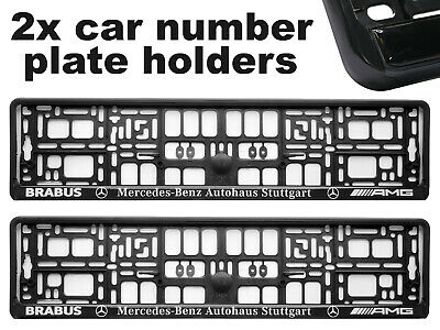 2 x Doming CAR Number Plate Surround Holder Frames BEST FIT for MERCEDES BRABUS
