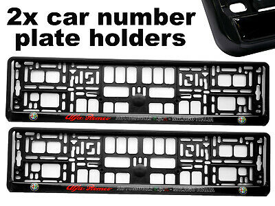 2 x Doming CAR Number Plate Surround Holder Frames BEST FIT for ALFA ROMEO