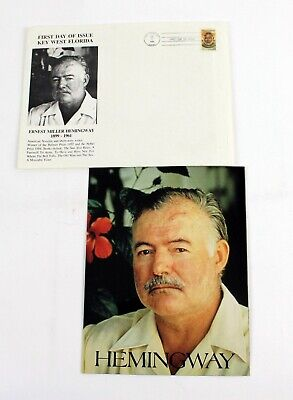 Ernest Hemingway First Day Cover Stamp & Color Photo 1989 Key West Florida