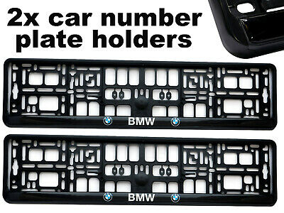 2 x Doming CAR Number Plate Surround Holder Frames BEST FIT for BMW