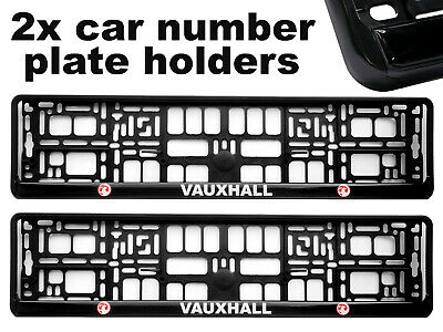 Pair Chrome Stainless Steel Number Plate Surrounds fits DACIA Free Gift