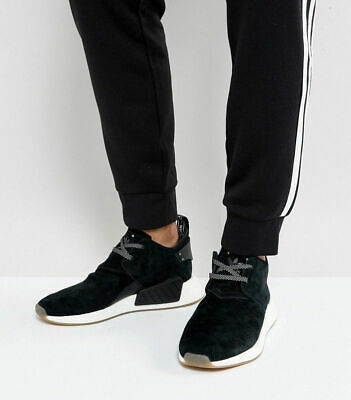 9889f1478 NWOB Adidas Boost NMD Chukka C2 Suede Core Black Gum BY3011 Shoes Size 10.5