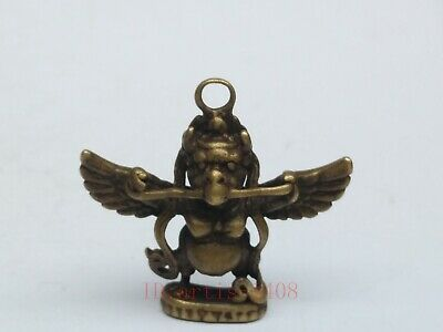 Collected China Tibet Copper Hand Carving Eagle Buddha Statue Tibetan Decoration