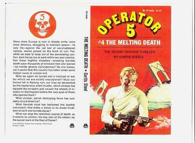 Facsimile cover reprint from an unpublished OPERATOR 5 pulp paperback.