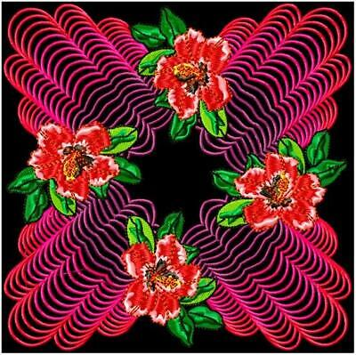 FLORAL PATTERNS 10 MACHINE EMBROIDERY DESIGNS CD or USB