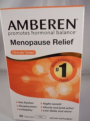 AMBEREN  60 Caps HEALTHY CHOICE FOR MENOPAUSE RELIEF( FRESH & NEW) 2022