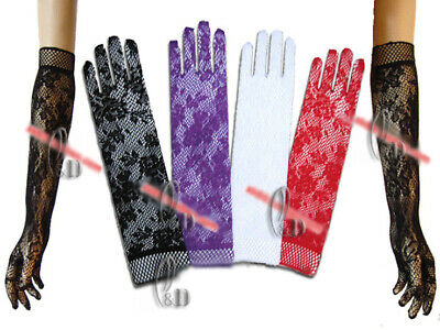 AU SELLER Lace Wedding Costume Bridal Evening Party Opera Long Gloves g003