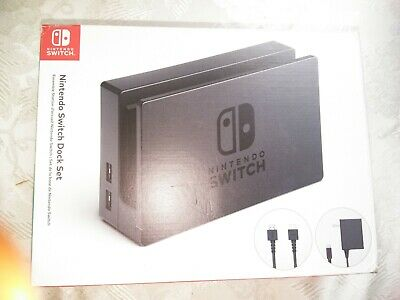 Nintendo Switch Dock Set Official HDMI cable AC adapter Console System