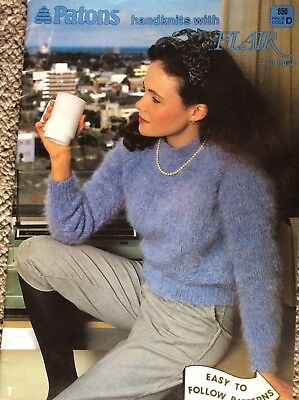 Vintage Patons Knitting Pattern Book 650 Handknits with Flair