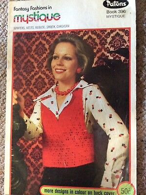 Vintage Patons Knitting Pattern Book 396 Fantasy Fashion in Mystique