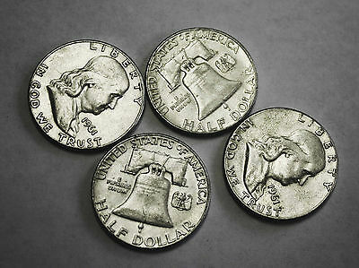 1961-p Franklin Half Dollar. Average Grade of Coin You Receive is Photographed