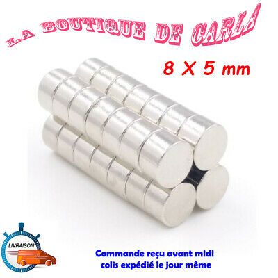 Lot Mini Aimant Neodyme Neodymium Magnets Disque Rond Fort Puissant 8mm X 5mm