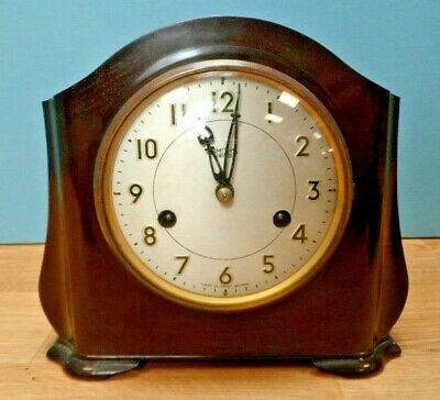 Vintage Bakelite Smiths Enfield Chiming Mantle Clock - Needs Attention