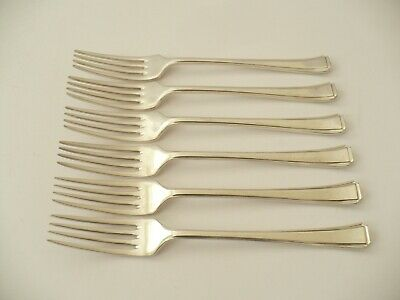 6 X Vintage E.p.n.s Silver Plated Table Forks / Dinner Forks - 1940 -