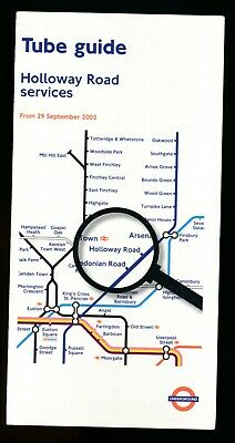 LONDON TRANSPORT UNDERGROUND TUBE MAP GUIDE HOLLOWAY ROAD SERVICE  29 Sept 2002