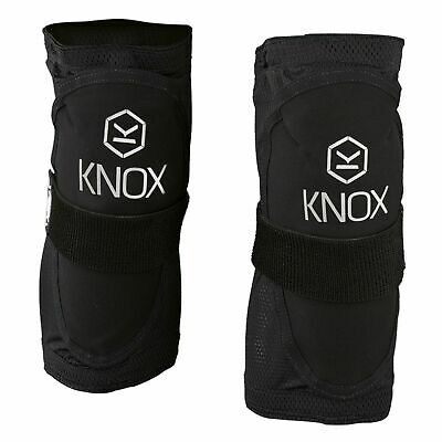 Knox Guerilla Motorcycle Motorbike CE Approved Short Knee Pads V14 - Black Mens