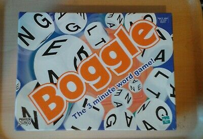 Boggle 3 Minute Word Game Great Classic Word Game By Parker/Hasbro Complete Vgc