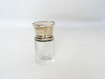 Solid Silver Topped Smelling Salts / Perfume Bottle – Birmingham 1912