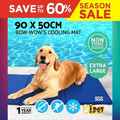 i.Pet Pet Cooling Bed Gel Mat Dog Cat Non-Toxic Cool Pad Puppy Cold Summer 90x50