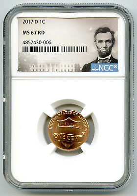 2017 D Us Mint Cent Union Shield Ngc Ms67 Rd Lincoln Label Super High Grade