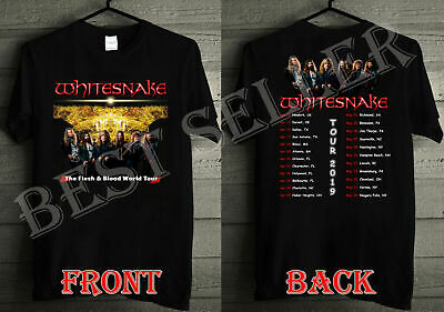 NEU  BEGRENZTE WhiteSnake-Flesh-and-Blood-Tour-Dates-2019 T-SHIRT S-5XL