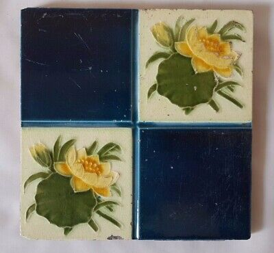 CHARMING english FLORAL DESIGN TILE art nouveau