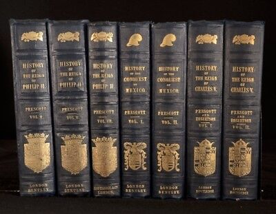 1850-9 7vols The History of the Reign of Charles V Conquest of Mexico Philip II