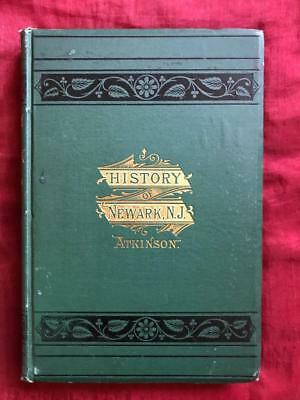 Rare 1878 1St Ed. History Newark New Jersey Nj Vintage Antique