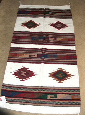 "Throw Rug Tapestry Southwestern Thick Hand Woven Wool 20x40/""   #205"