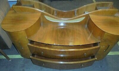 ART DECO Style Walnut Veneer Dressing Table Without Mirror - M32