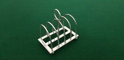 Antique HM 1903 William Hutton Solid Sterling Silver 4 Slice Toast Rack