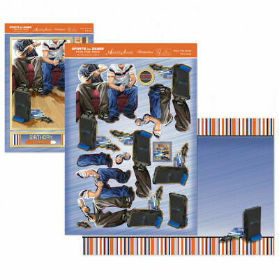 Hunkydory Steeplechase Horse Racing Deco-Large Male Card Kit Fathers Day