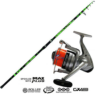 KP3748 EVO Canna ABSOLUTE 420 200GR Surf + mulinello Oceanic 8000 PPG