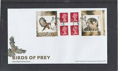GB 2019 Birds of Prey retail stamp booklet Royal Mail FDC Newent Gloucestershire
