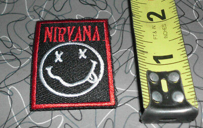 nirvana red logo embroidered patch iron on sew on grunge rock