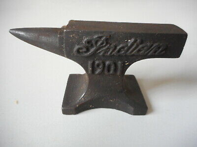 Vintage Miniature 1901 Indian Motorcycle Jeweler Anvil Paperweight 1.5 lb