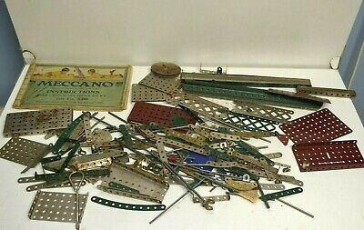 meccano  ancien    lot    de 4 kg    de  pieces   diverses avant   guerre