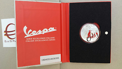 5 euro Italia 2019 FdC Italie Italy Italien VESPA rossa red rouge rot tinto