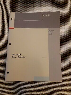 Operating & Service Manual HEWLETT PACKARD 11683A Power Meter Range Calibrator
