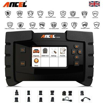 Ancel Car ABS SRS DPF TMPS iMMO OIL Reset OBD2 Scanner ALL System Code Reader