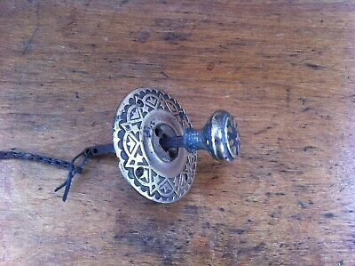 DECORATIVE ANTIQUE BRASS BELL PULL 2.7 inches