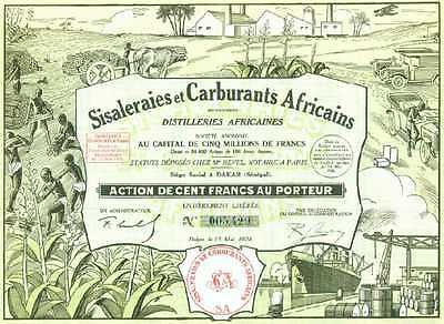 Carburants Africains - Distilleries Dakar 1928