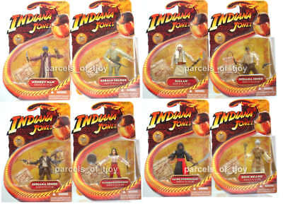 "Indiana Jones Raiders of the Lost Ark Indy SET OF 8  3.75"" Figure MOC HASBRO"