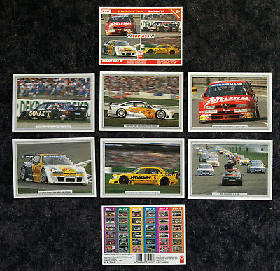 DTM SAISON '95 TOP ASS SAMMELSET 6 - 6 COLLECTION CARDS 10x15 CM - OVP - SELTEN