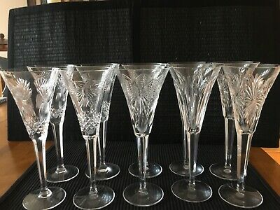 Complete Waterford Crystal Millennium Collection 10 Champagne Flutes