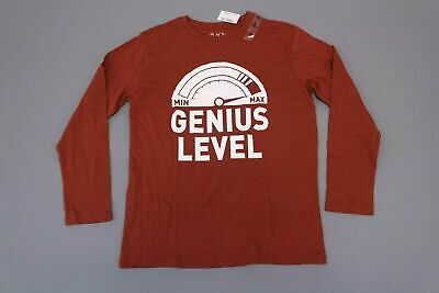 The Children's Place Boys Long Sleeve Genius Level Tee CB4 Rust Red Large NWT