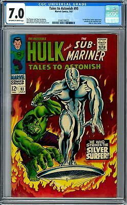 Tales to Astonish #93 CGC 7.0 (OW-W) 1st Silver Surfer Outside Fantastic Four