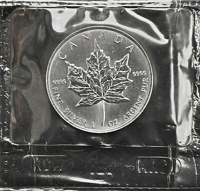 1997 Canada $5 Silver Maple Leaf 1 oz. Fine - Sealed - KEY DATE