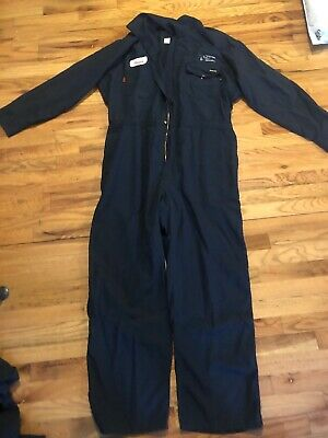 50f10fbdd18b FRC WorkRite Men s Industrial Flame Resistant Coverall Navy Blue Work 52