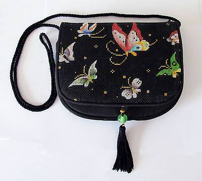 """Sophia BUTTERFLY Silk Purse Style """"B"""" complete HP Needlepoint Canvas~Self Finish"""